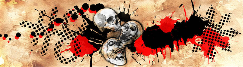 Skulls polka trash