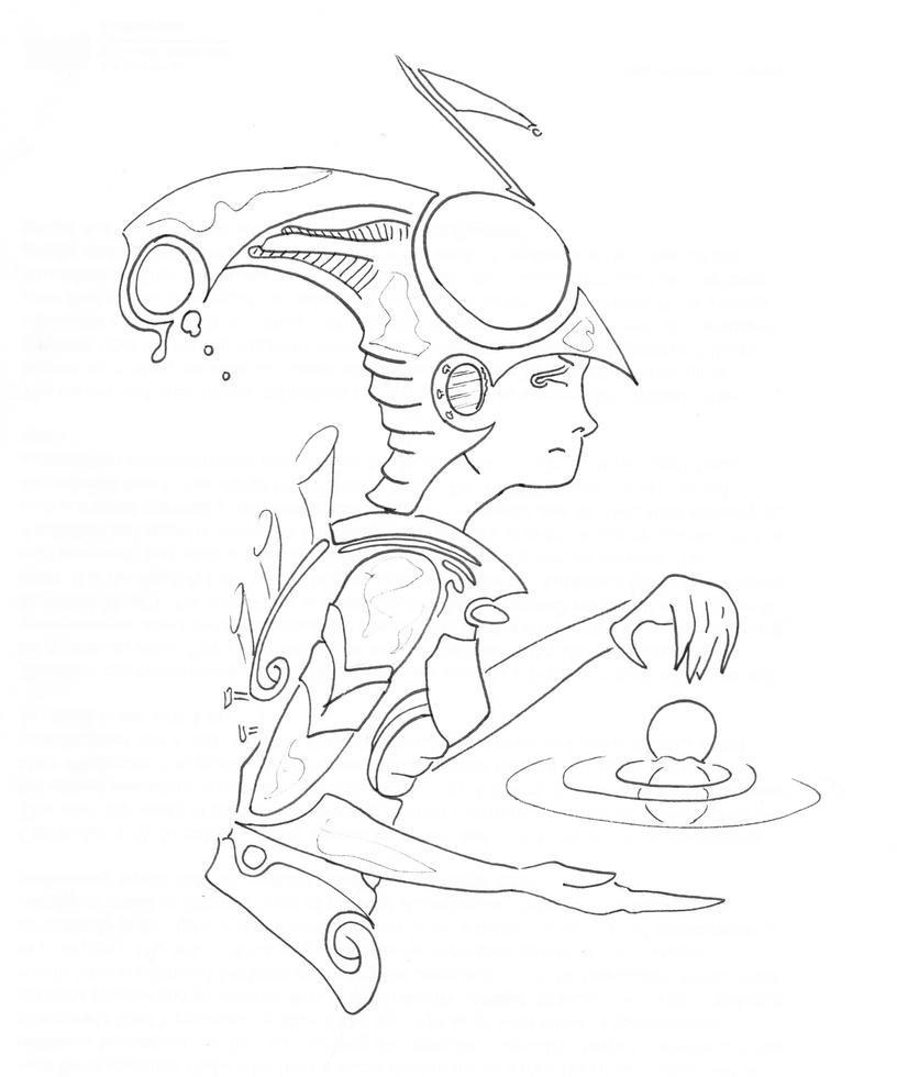 Tolkein's Ainur Design Sketch by WillMcLaren
