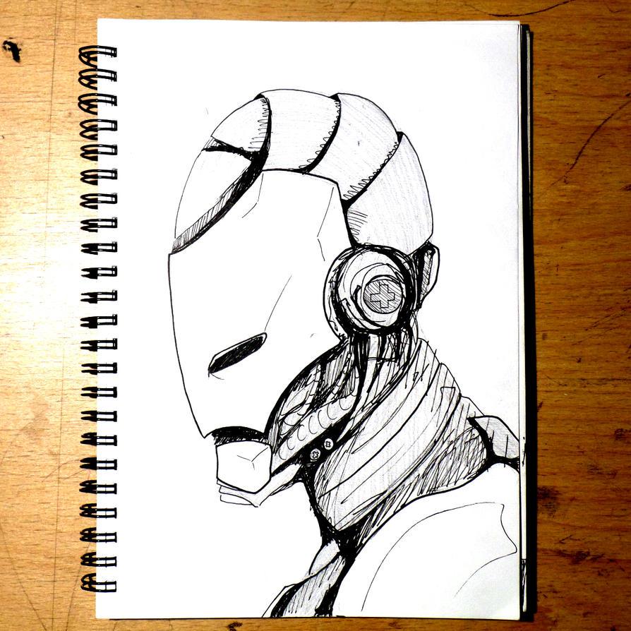 Iron Man Head Sketch by WillMcLaren