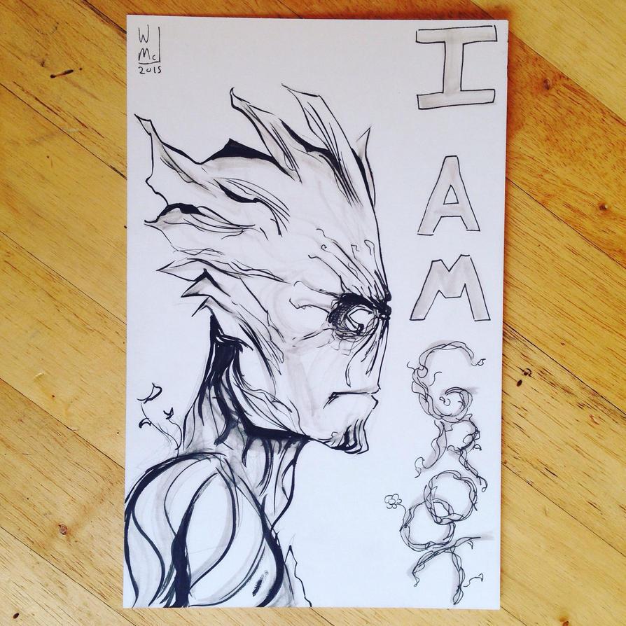 Groot Sketch by WillMcLaren
