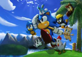 Sonic's Genesis (21st Anniversary) by ZekukN