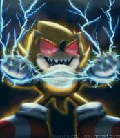 Fleetway Super Sonic by ZekukN