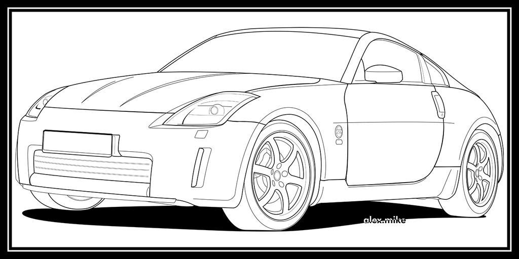 Line Drawing Nissan Gtr : Sketch of nissan z