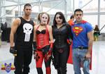 Punisher/Harley Quinn/Domino/Superman Cosplay