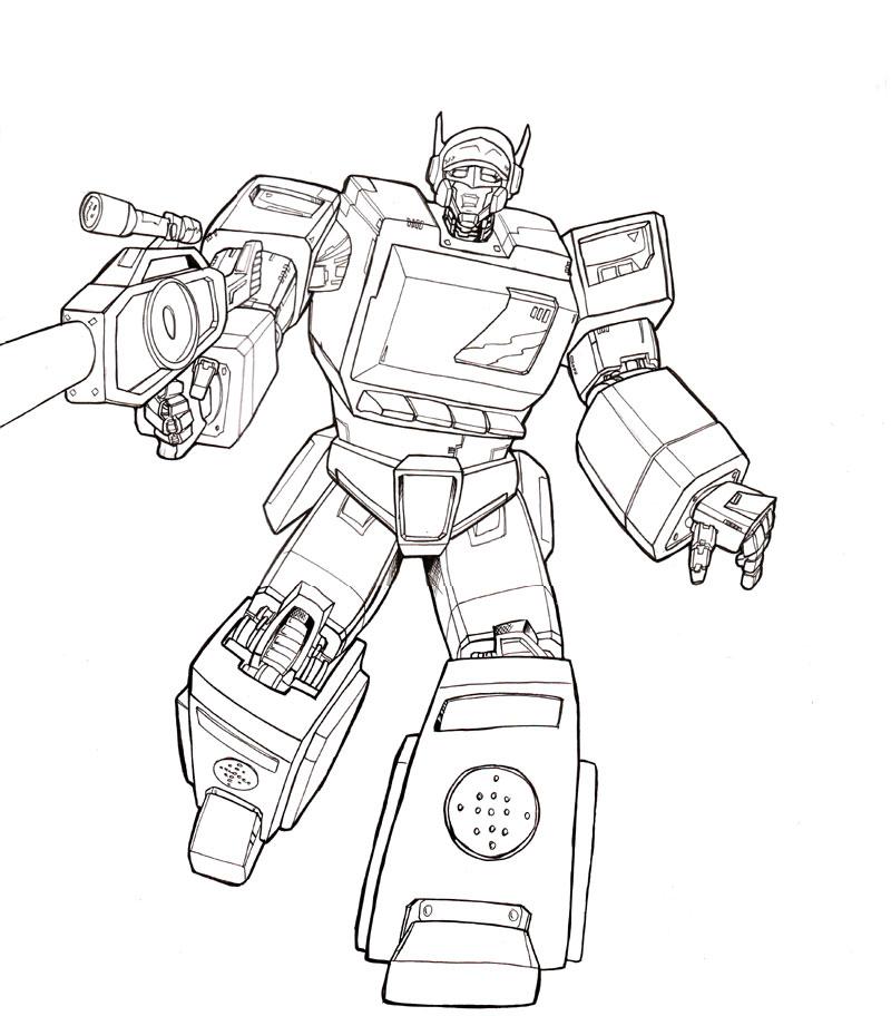 Optimus Prime Vs Megatron Coloring Pages