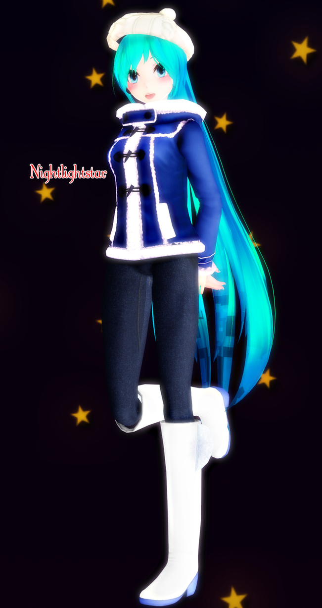 . : Download : .  Miku Casual Winter by NightLightStar01