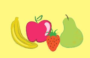 fruta en illustrator