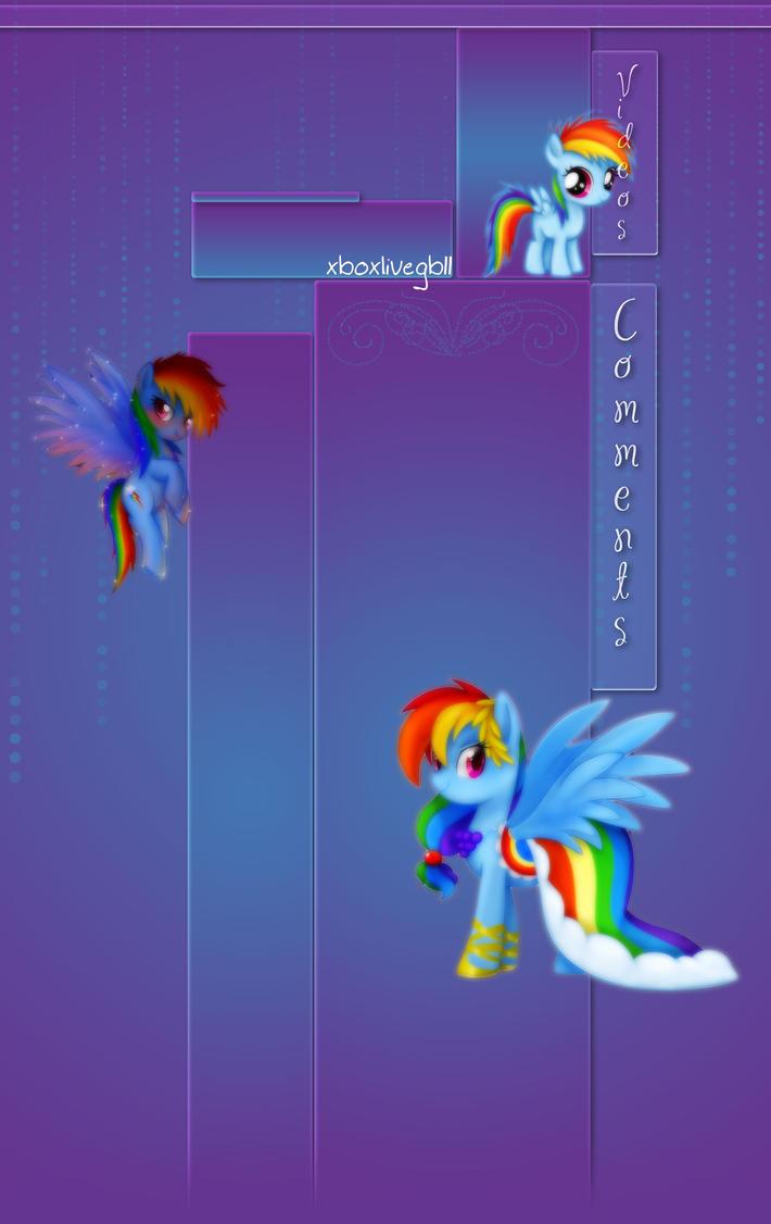 Rainbowdash YT Bg by DBluver
