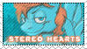 Stereo Hearts Stamp Commission by DBluver