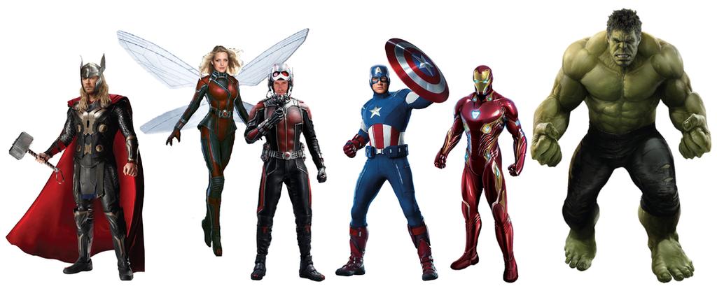 The Original MCU Avengers Transparent Renders by JMoney667