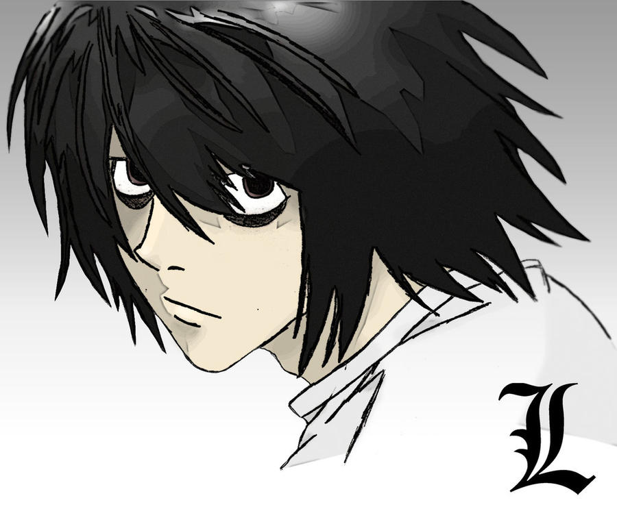 Death Note L colored  L Death Note Avatar