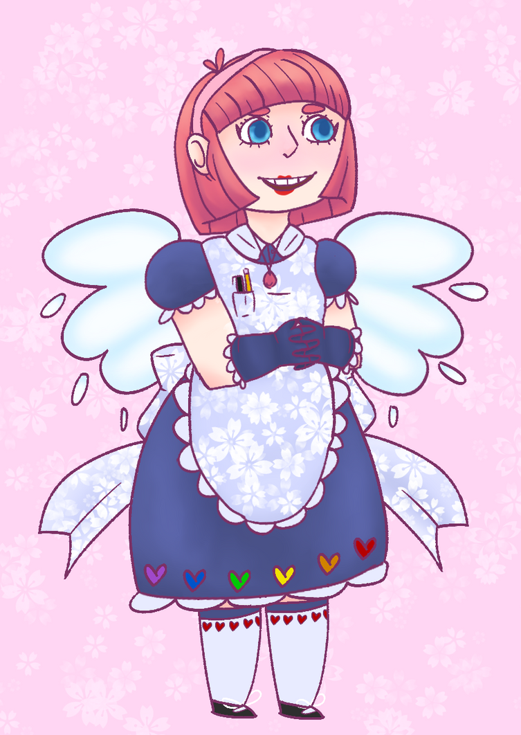 Chibi Maid by squidspeaker
