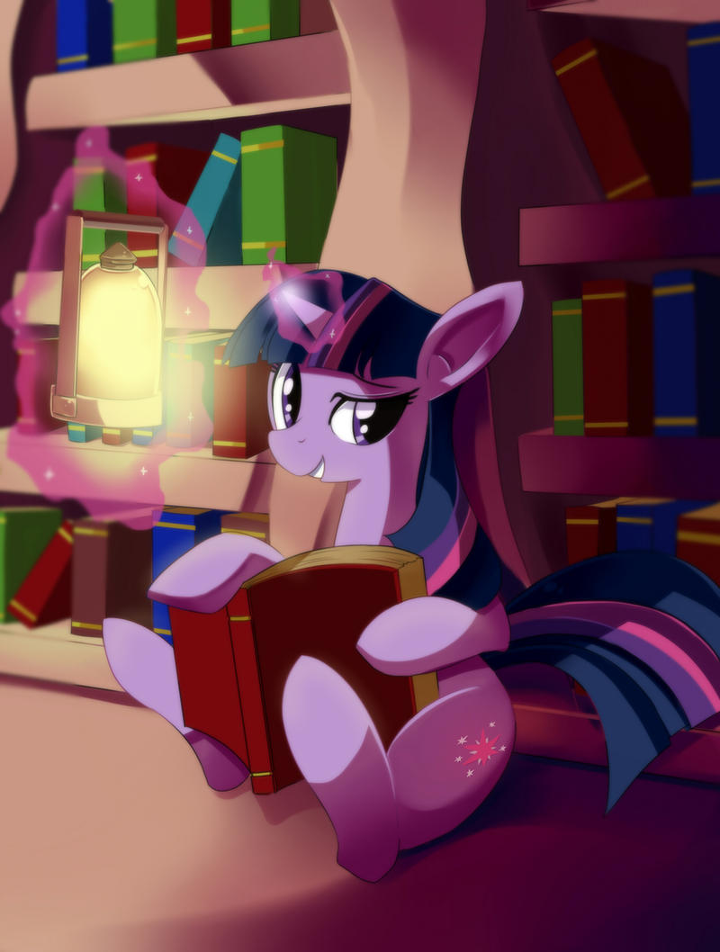 Nighttime in Library by freedomthai