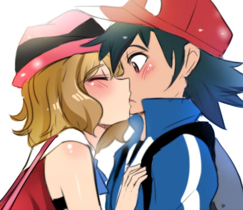 Serena kisses Ash