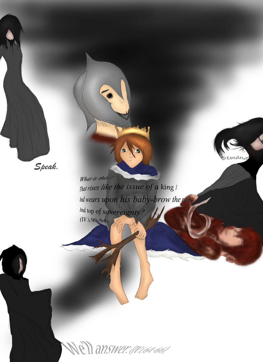 Macbeth: Act IV. Scene i. Apparitions. by HgBird on DeviantArt