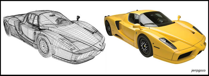 Gradient Mesh: Ferrari Enzo