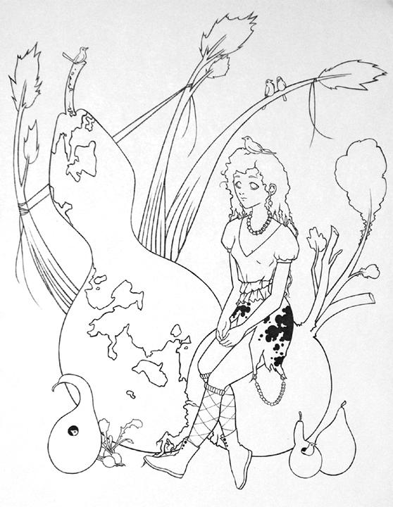 Luna lovegood by elamen on deviantart for Luna lovegood coloring pages