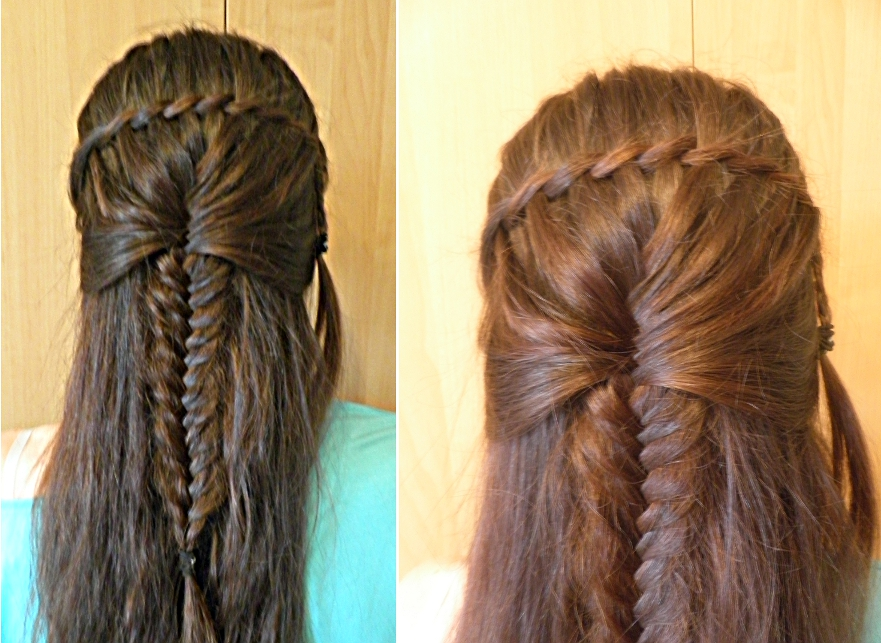 Twisted Waterfall Ended With French Braid By Czarna712 On