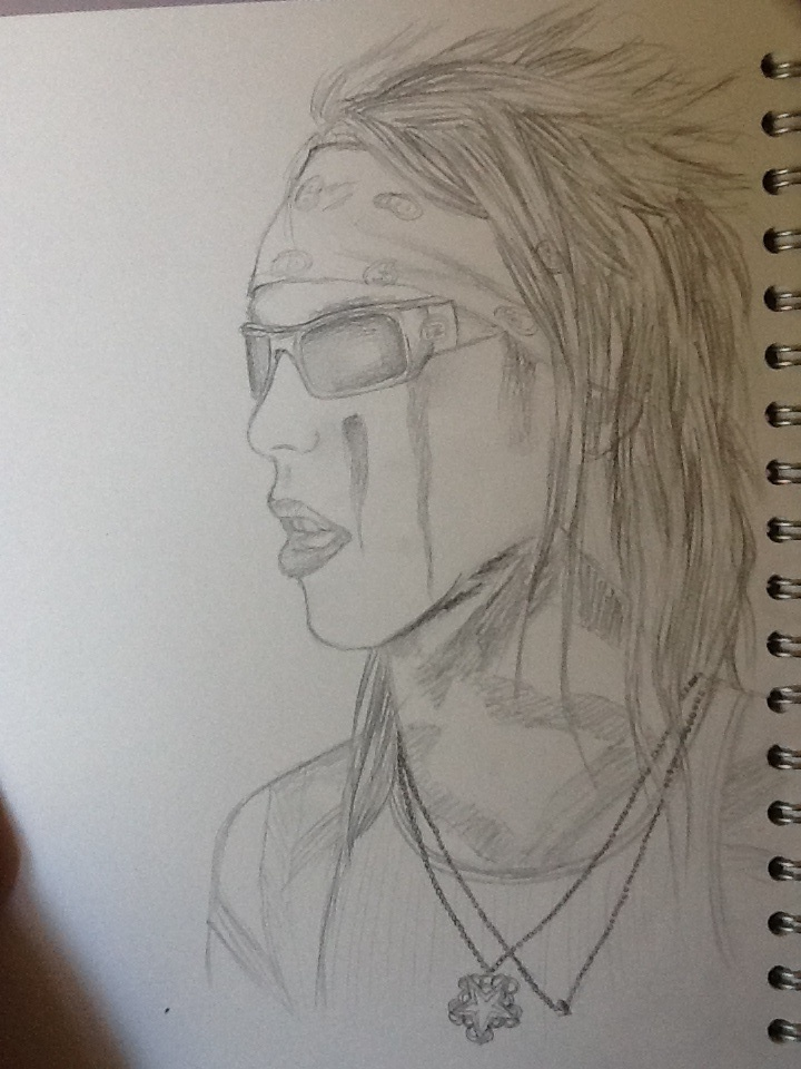 Christian Coma (CC) - Pencil Sketch by BlacklightArtist02