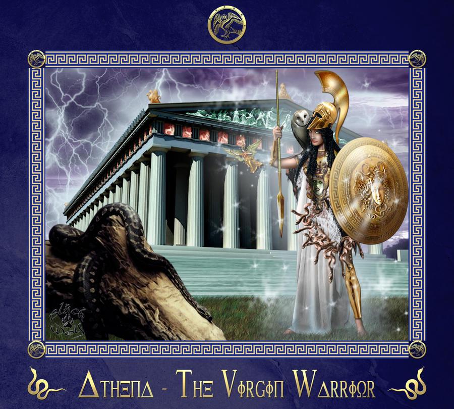 Athena - The Virgin Warrior by BlackWolf-Studio