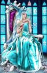 Queen Of Diamonds Enthroned