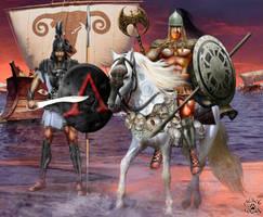 Iberian Warriors by BlackWolf-Studio