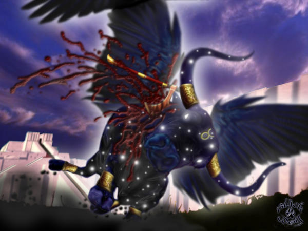 Death of Bull of Heaven by BlackWolf-Studio