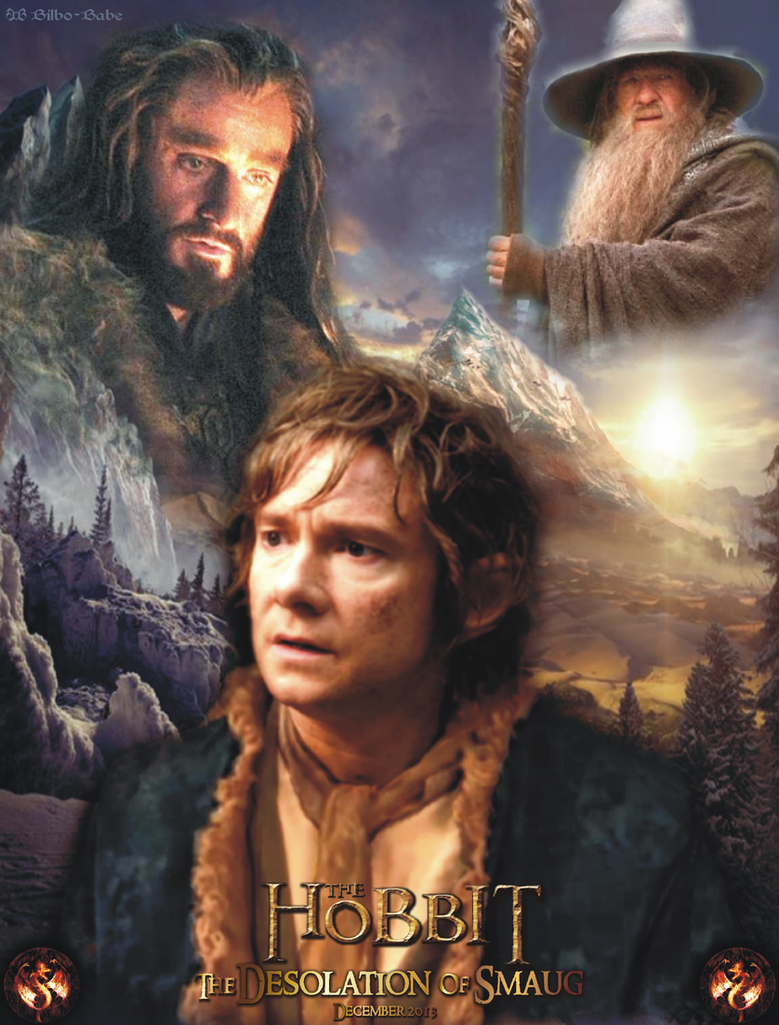 Bilbo Baggins, Thorin, Gandalf by LadyCyrenius on DeviantArt