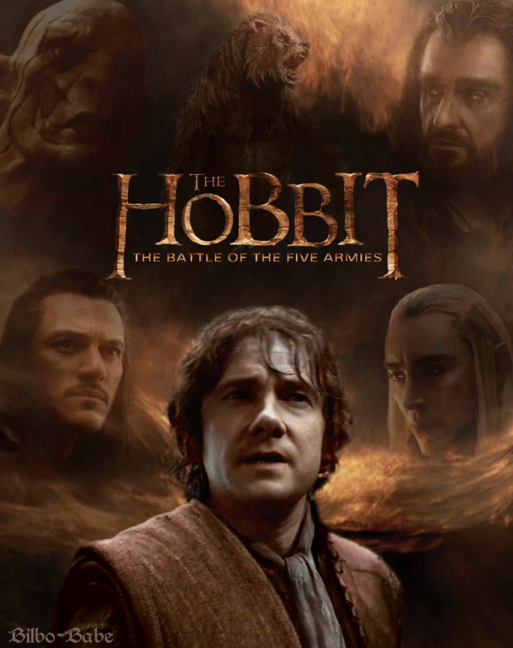 The Hobbit- Battle of Five Armies Poster by LadyCyrenius ...