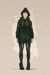 girl sketch by Jerner