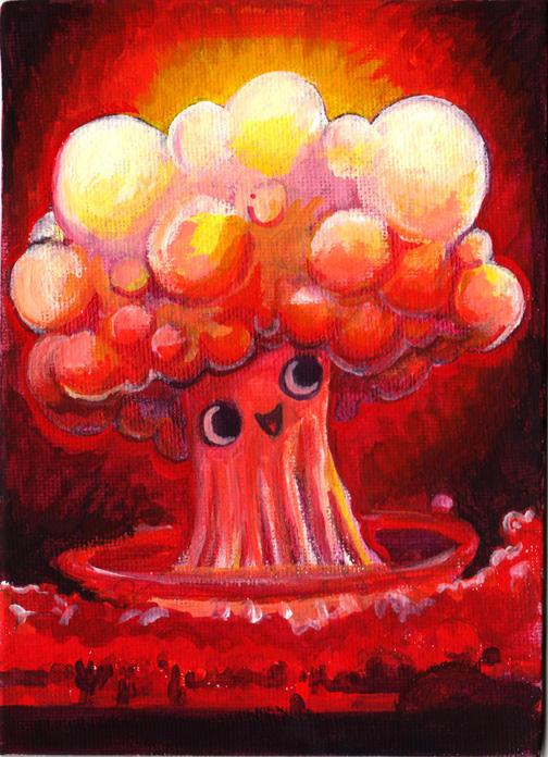 worlds happiest mushroom cloud by smushbox