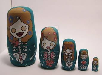 Custom Nesting doll set by smushbox