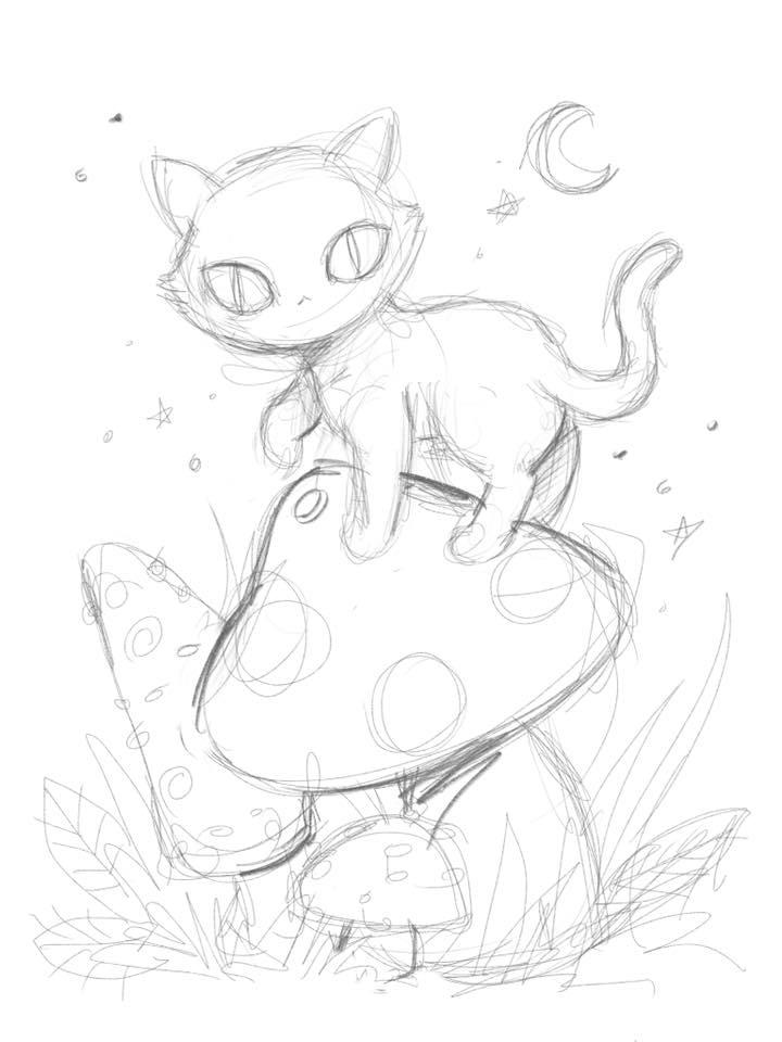 Mushroom cat by smushbox
