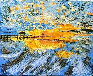 Impasto Pier at Sunset