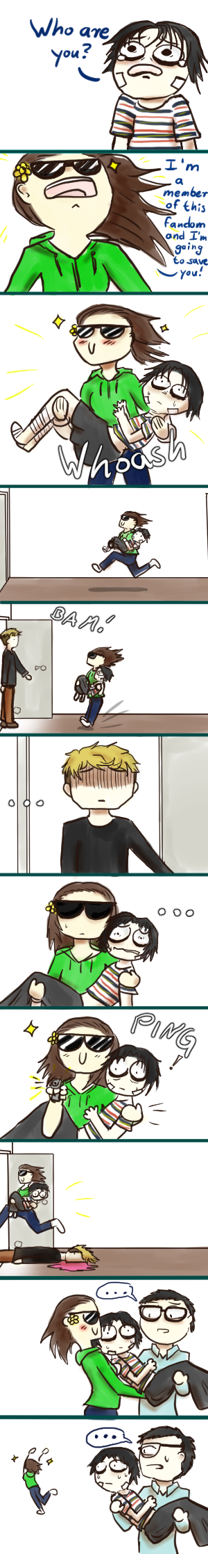 Saving Bum [Killing Stalking short comic] by Inakia