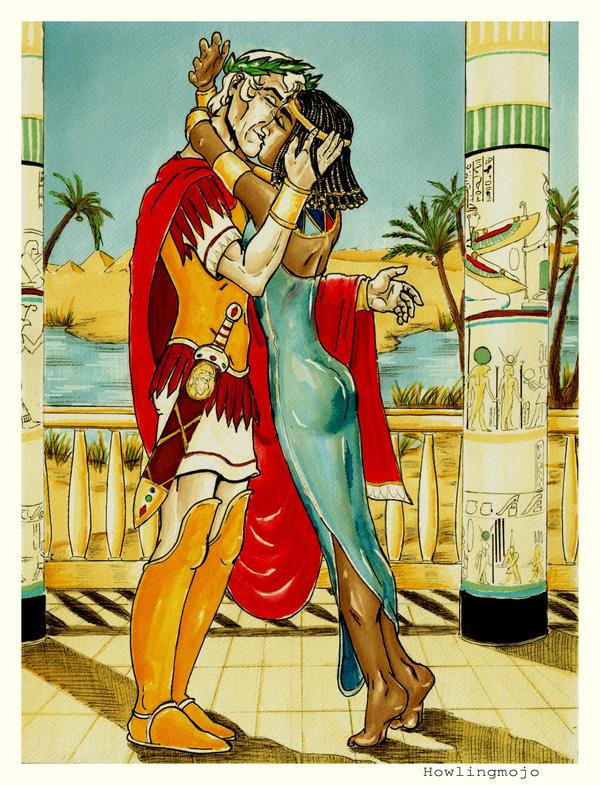 Cleopatra greets Julius by Howlingmojo
