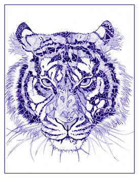 ballpoint tiger