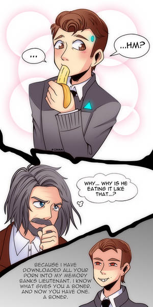 Connor-chan and Hank-kun