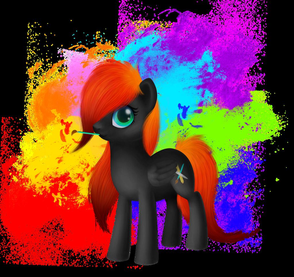 I'm an artist by flerfarvet