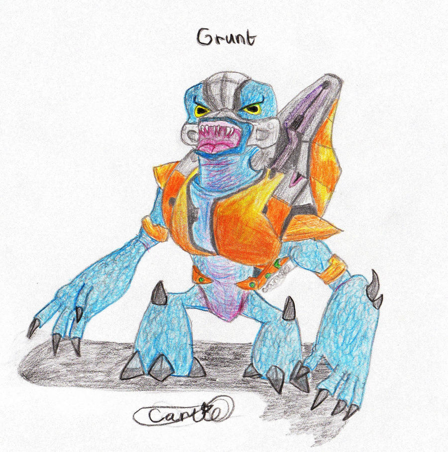 Halo Grunt by Carlie-NuclearZombie