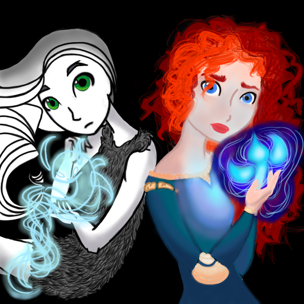 Aisling and Merida by archangelmary