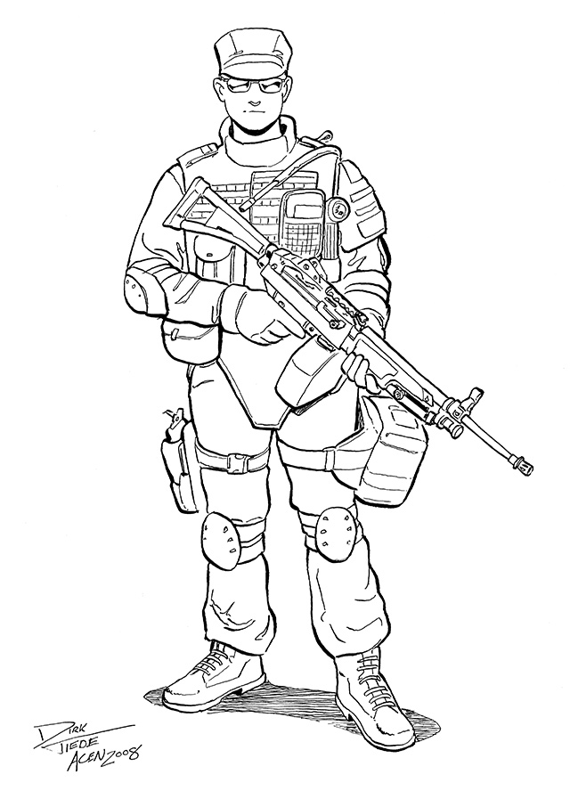 Swat team free colouring pages for Swat team coloring pages