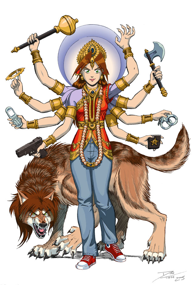 Durga Kate - colors by dirktiede