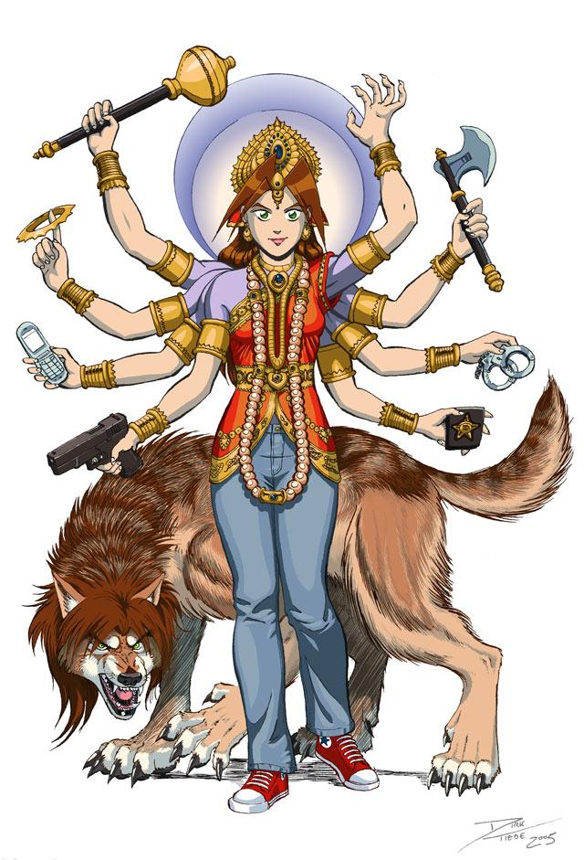 Durga Kate - colors by dirktiede