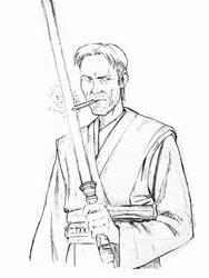 Con Sketch: Jedi Vimes by dirktiede