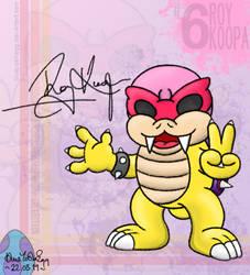 Roy Koopa Autograph Card by blueyoshiegg