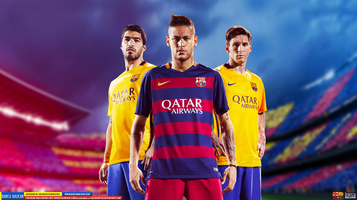 messi suarez neymar hd wallpaper 2015 by selvedinfcb on