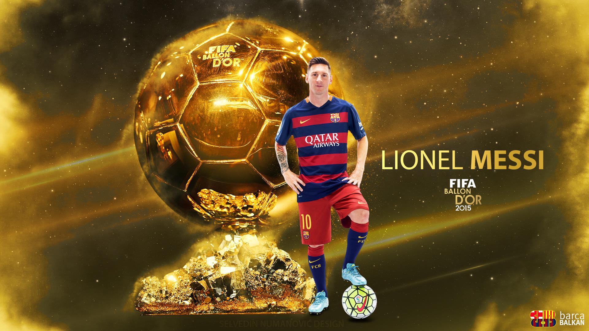 Lionel Messi FIFA Ballon D'Or 2015 HD Wallpaper By