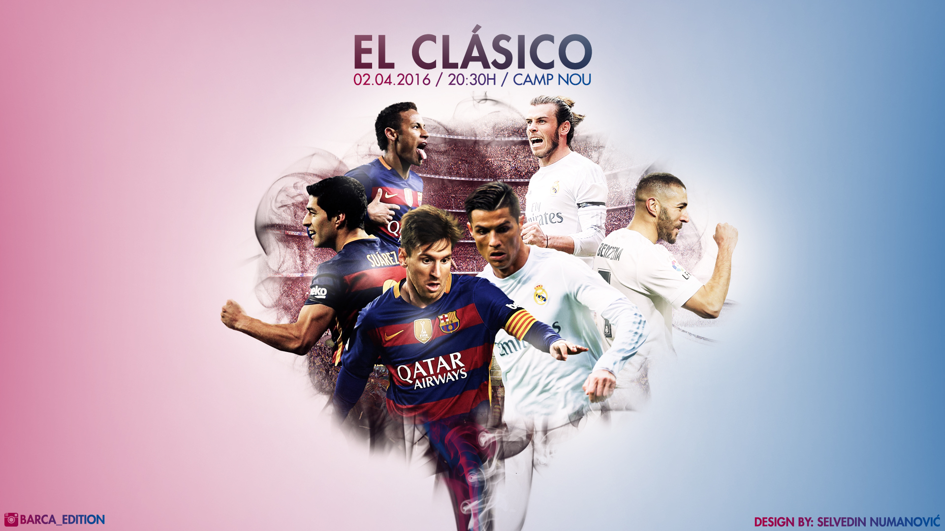 Fc barcelona real madrid cf 2016 hd wallpaper by - Real madrid pictures wallpapers 2017 ...