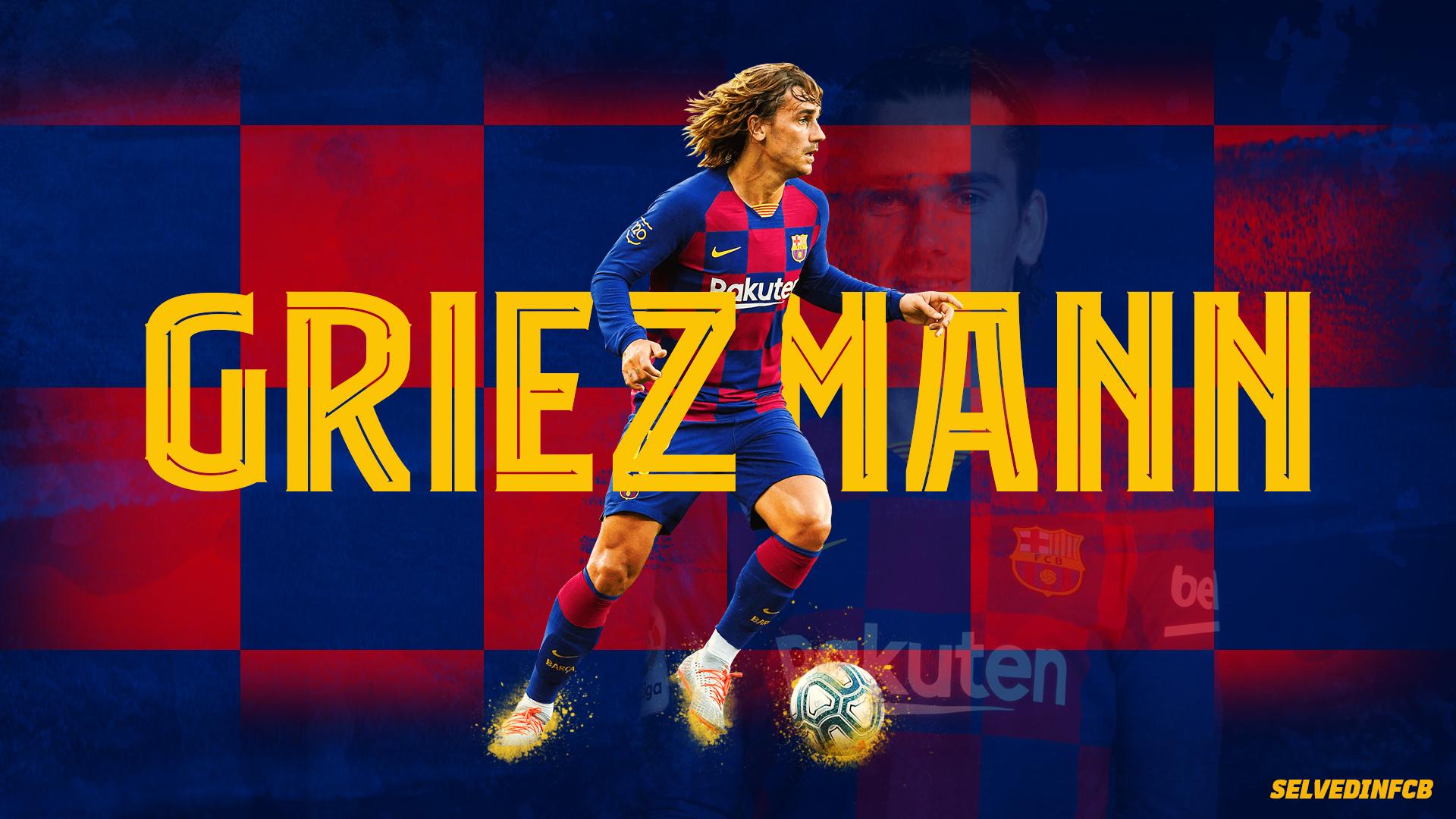 Antoine Griezmann 2019 Fc Barcelona Wallpaper By